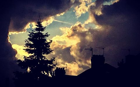 #London #skyline #rooftop #chimney #clouds #sunlight #sunset #silhouette #tree #biblical #blueskies #moody #magical #womeninfilm #inspiration