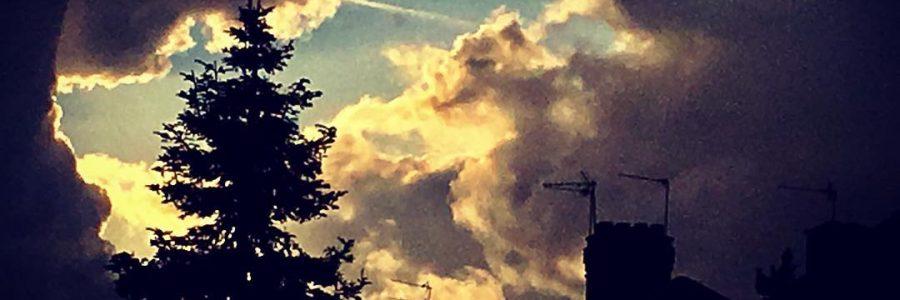#London #skyline #rooftop #chimney #clouds #sunlight #sunset #silhouette #tree #biblical #blueskies #moody #magical #womeninfilm #inspiration