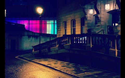 @visitbath #nighttime #streetphotography #reflection #colour #architecture #contrast #shadows #deserted #inspiration #location #womeninfilm #indiefilm @filmbathuk #nightlife #nightout #noir #directedbywomen